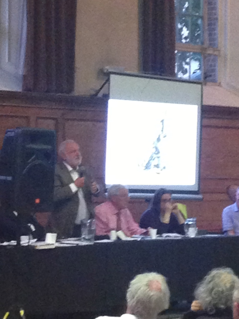 Frank Dobson MP addresses the meeting