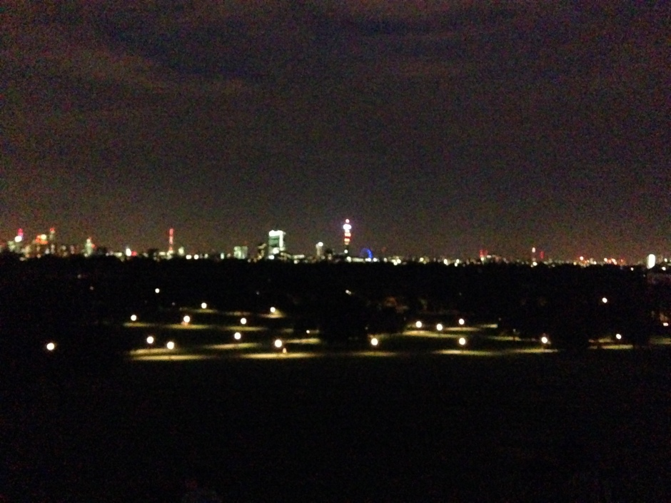 Classic night-time view. © 2013 iLovePrimroseHill.com, all rights reserved.