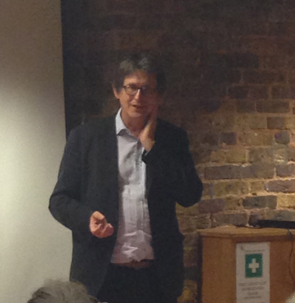 Alan Rusbridger addressing Primrose Hill Community Association, 3 Oct 2013. © 2013 iLovePrimroseHIll.com, all rights reserved.