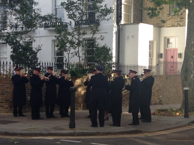 THE SALVATION ARMY BAND PLAYS, REGENT'S PARK ROAD, SUNDAY.   © 2013, iLovePrimroseHill.com, all rights reserved.