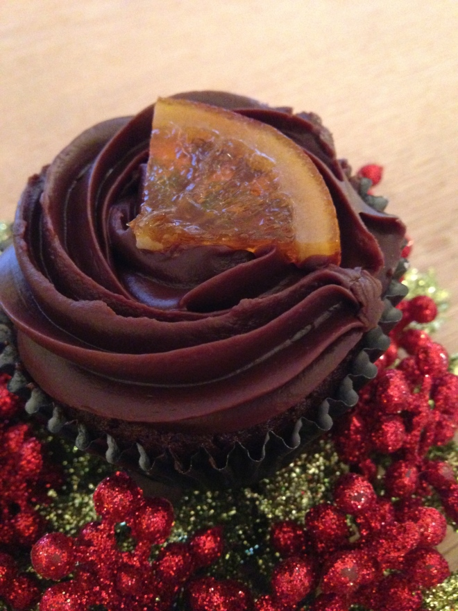 CHOCOLATE ORANGE CUPCAKE.   © 2013 iLovePrimroseHill.com, all rights reserved.