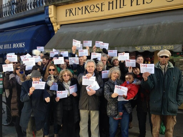 WORRIED LOCALS PROTEST AGAINST THE DAMAGE HS2 WILL DO TO CAMDEN AND PRIMROSE HILL