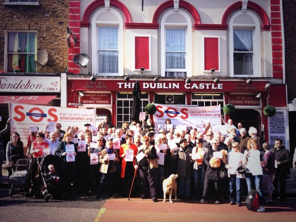 SOS CAMDEN PROTESTING AGAINST THE POTENTIAL DAMAGE TO CAMDEN FROM HS2