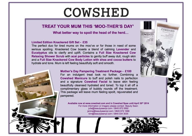 Cowshed Mother's Day-email