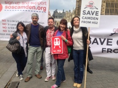 JC CAMPAIGNING AGAINST HS2 WITH LOCALS KYLIE SMITH, PHIL COWAN, TRISH BERTRAM AND KATHERINE SYKES