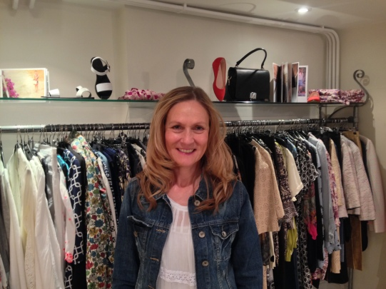 PAMELA SHIFFER IN HER BOUTIQUE