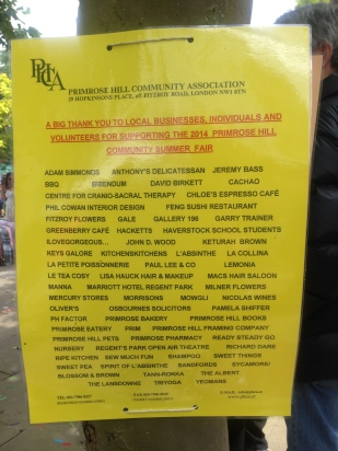 THE GENEROUS LOCAL BUSINESSES SUPPORTING THE FAIR