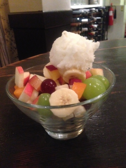 FRUIT SALAD AND SORBET