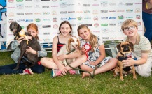 CHILD'S BEST FRIEND, WITH WINNER ROSIE IN THE MIDDLE photo Julia Claxton.