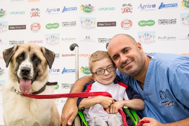 MARC AND HIS MATE, PUPAID SUPPORTER OWEN, AND OWEN'S DOG HAATCHI photo Julia Claxton.