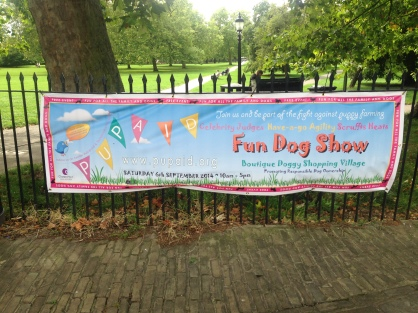 PupAid rolled into Primrose Hill to share Marc the Vet's anti puppy-farming message.