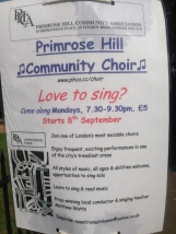 The Primrose Hill Community Choir swung back into their rhythm after the summer break.