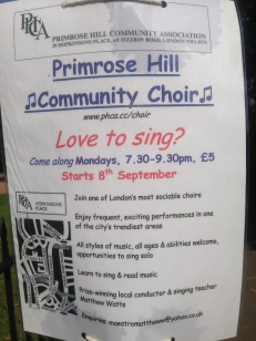The Primrose Hill Community Choir swung back into their rhythm after the summer break.
