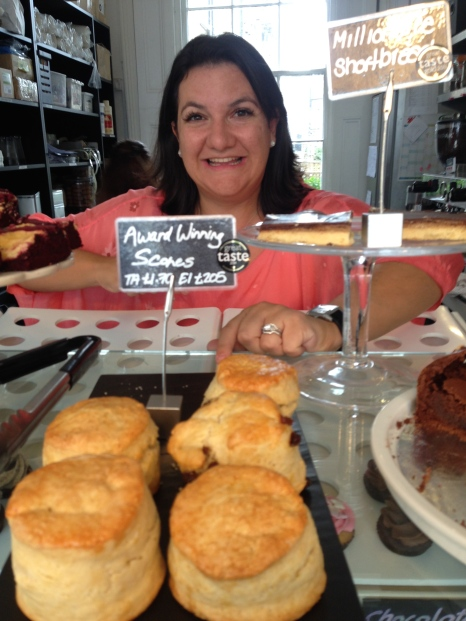 Natalie Allen of Sweet Things with her award-winning scones; their also won an award for their hot chocolate.