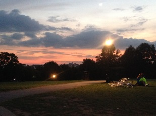A warm and mellow evening on the hill.
