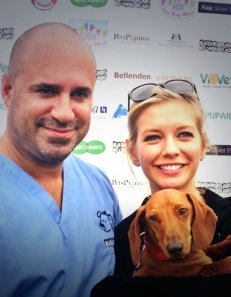PUPAID'S MARC ABRAHAM WITH RACHEL RILEY, PUPAID 2014
