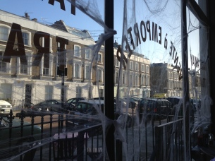 Spooky cobwebs at L'Absinthe....