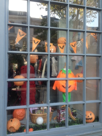 A VERY CUTE PUMPKIN COSTUME AT MARY'S LIVING AND GIVING