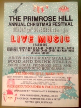 30 NOVEMBER, THE PRIMROSE HILL CHRISTMAS FESTIVAL. ARTS AND CRAFTS, FOOD AND DRINK AND A BAKE OFF!