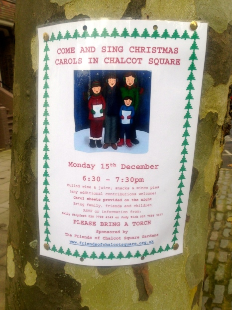 15 DECEMBER: CAROLS IN CHALCOT SQUARE