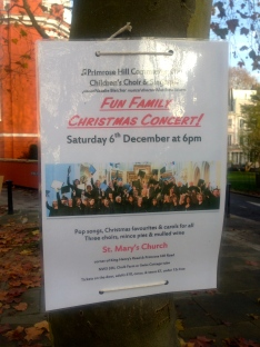 SATURDAY 6 DECEMBER: CHRISTMAS CONCERT, ST MARY'S CHURCH