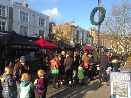 THE FAIR IN FULL SWING IN THE AFTERNOON SUNSHINE