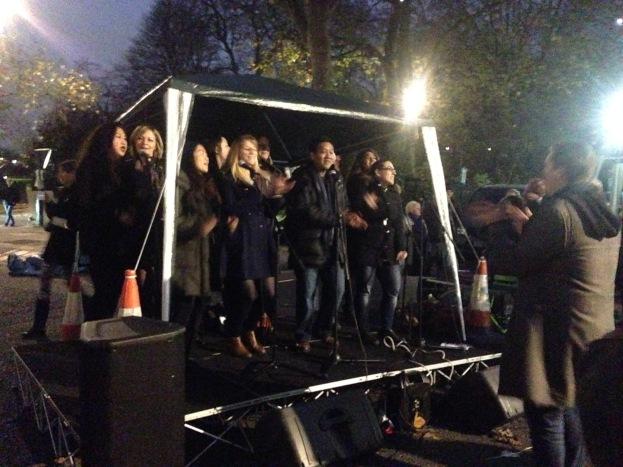 THE 'BIG-SING' CHOIR RAMPED UP THE FESTIVE FEELING