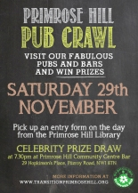 PUBS, BARS AND PRIZES! ORGANISED BY TRANSITION PRIMROSE HILL.