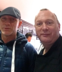DANIEL CRAIG WITH BUTCHER CHARLIE