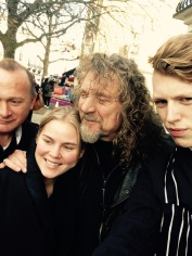 ROBERT PLANT WITH BUTCHERS CHARLIE, LINDA AND LESLIE