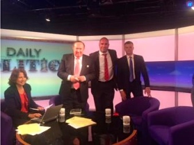MARC WITH ANDREW NEIL AND MARK HARPER MP AFTER HIS APPEARANCE ON THE BBC'S 'DAILY POLITICS.'