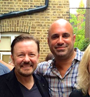 MARC SAYS THAT RICKY GERVAIS HAS BEEN A GREAT HELP IN DRIVING THE CAMPAIGN FORWARD