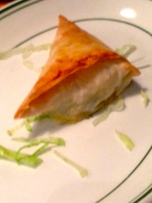 LIGHT CRISPY FILO WITH SPINACH AND CHEESE. DELICIOUS.