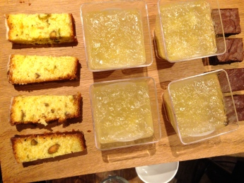 JELLY, LEMON AND POLENTA CAKE AND BROWNIES