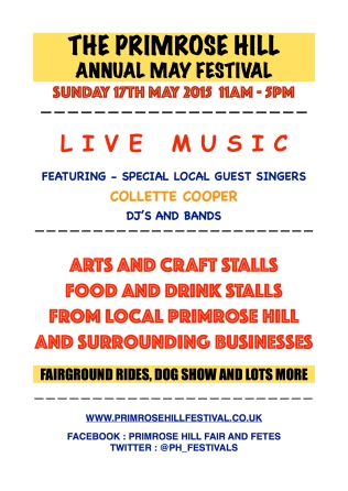 THE PRIMROSE HILL ANNUAL MAY FESTIVAL, SUNDAY 17 MAY
