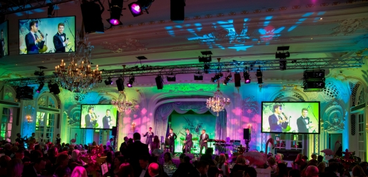 JACK PACK ON THE STAGEThe Macmillan Annual Ball 2015 @ The Savoy Hotel