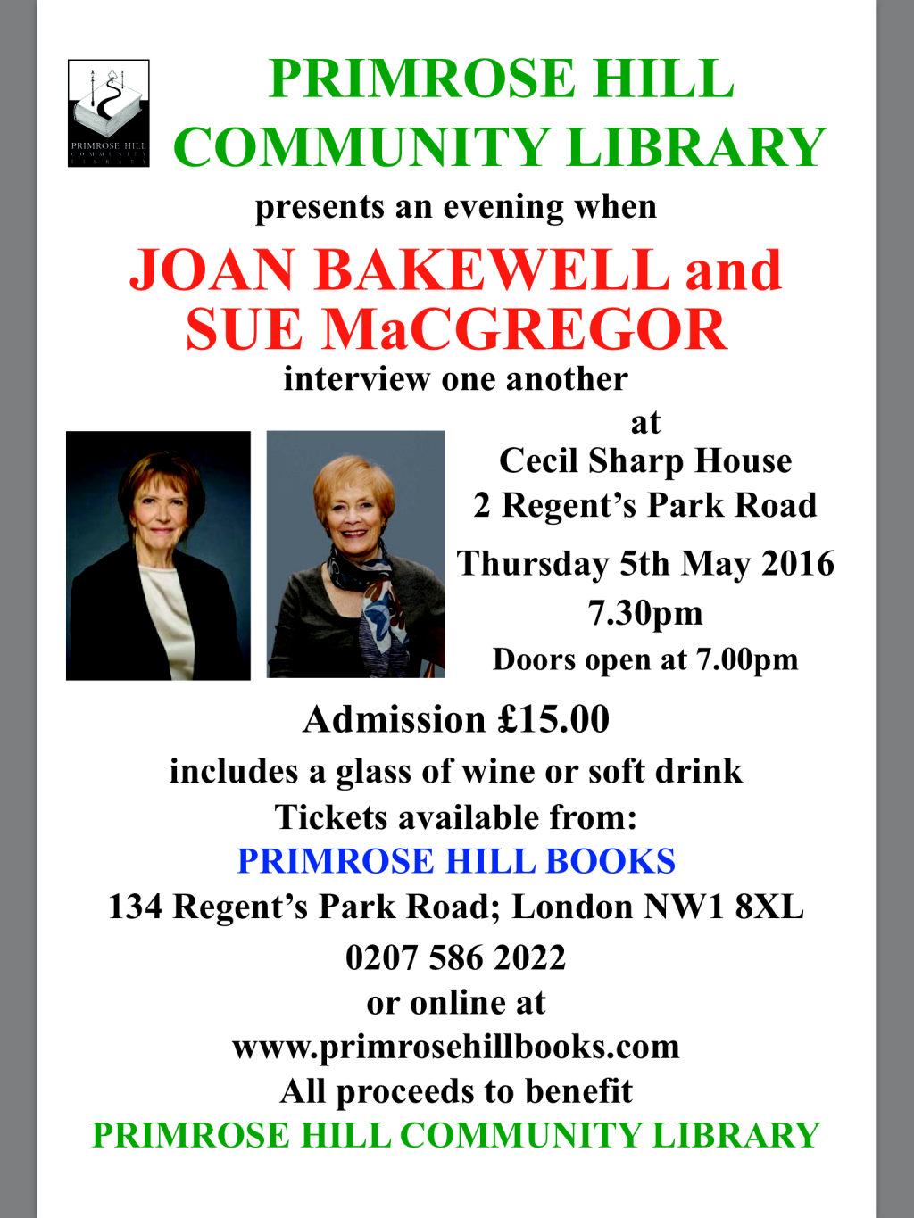 JOAN BAKEWELL AND SUE MacGREGOR INTERVIEW ONE ANOTHER