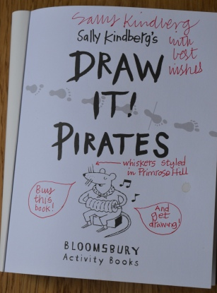 "MESSAGE FROM SALLY: ""BUY THIS BOOK! AND GET DRAWING!"""