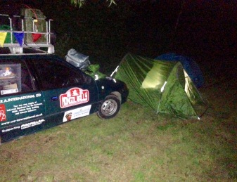 DAVID AND DAN'S FIRST NIGHT ON THE RALLY, BELGIUM