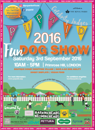PUPAID FUN DOG SHOW 2016 SATURDAY SEPT 3RD, 10-5PM