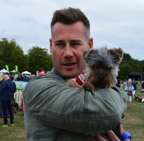 TIM VINCENT AND ADORABLE MONTY.