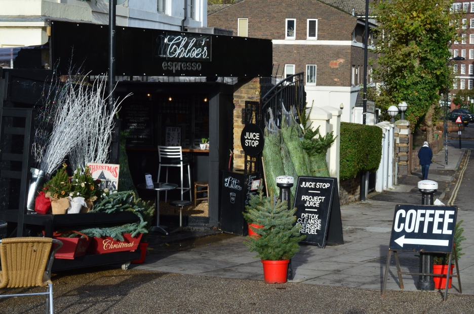 CHRISTMAS TREES AT CHLOE'S ESPRESSO