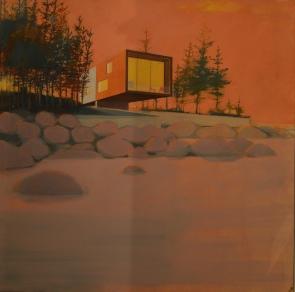 BEACH HOUSE, SUNSET by ALASDAIR LINDSAY, £2700