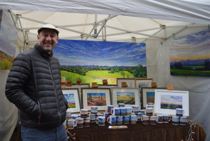 ED SUMNER WITH HIS BEAUTIFUL LOCAL ART