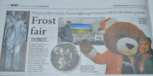 DELIGHTED TO SHARE iLPH PHOTOS WITH OUR EXCELLENT LOCAL PAPER, CAMDEN NEW JOURNAL