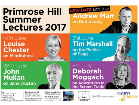 PRIMROSE HILL SUMMER LECTURES 2017