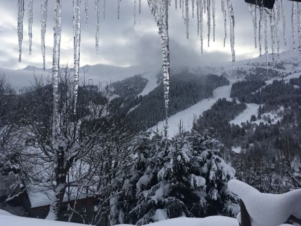 ICICLES AND SKI SLOPES